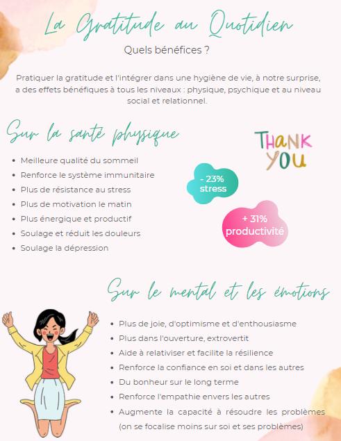 """Extrait de l'ebook """"gratitude"""" - les bénéfices de la gratitude"""