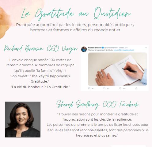 Extrait de l'ebook sur la gratitude - les personnalités publiques qui pratiquent la gratitude